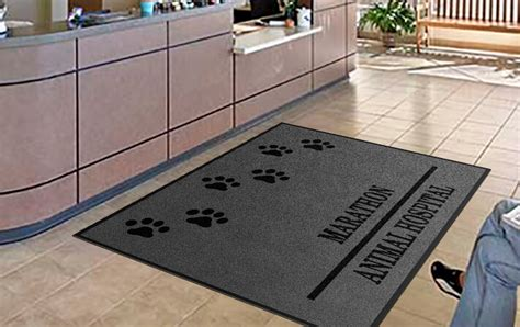 custom entry mats veterinarian custom door mats all you need to rug rats