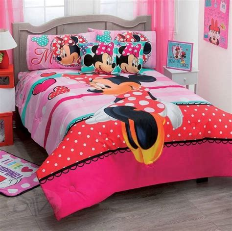 funny minnie mouse toddler bedding  kids interior