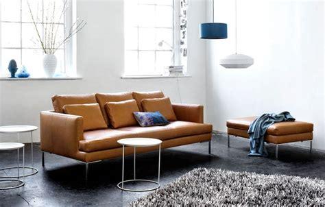 canapé lit bo concept canapé 3 places en cuir brun istra boconcept