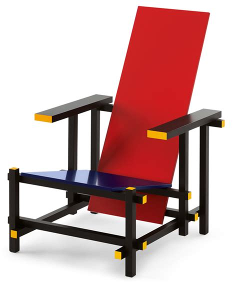 and blue chair gerrit rietveld cassina markanto