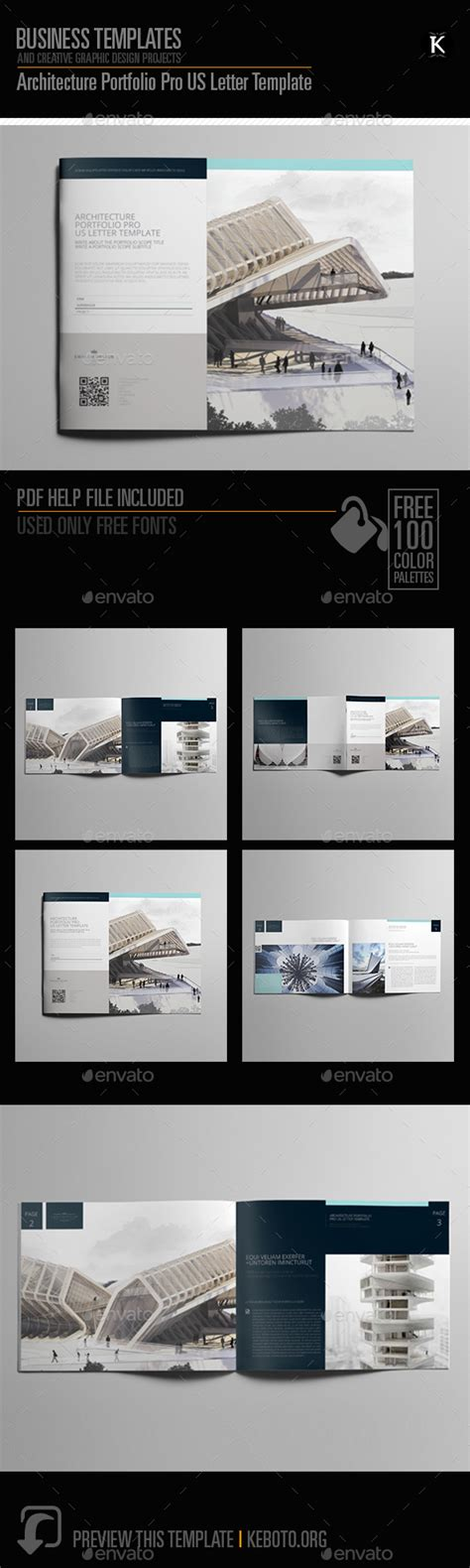 14827 architecture portfolio template architecture portfolio pro us letter template by keboto