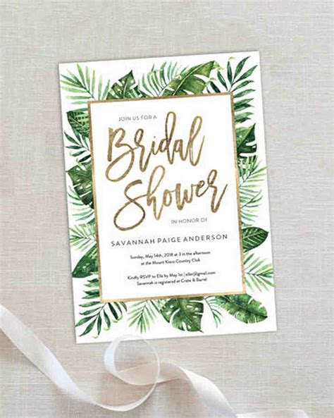 Bridal Shower Invitations - 10 affordable bridal shower invitations you can print at