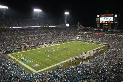 The stadium opened as jacksonville municipal stadium on august 18, 2005 with the construction taking just over a year and a half at a cost of just over $121 million, $182 million in present day dollars. Alltel Stadium, Jacksonville Jaguars   Football :-)   Pinterest
