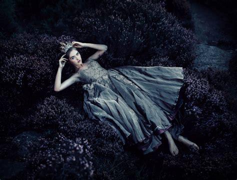 wallpaper model dress lying  plants dark theme