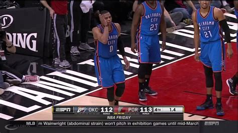 Russell Westbrook Blow To The Face Youtube