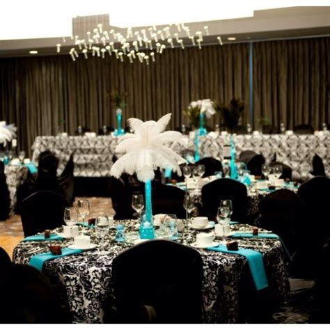 black white turquoise wedding making me lean towards