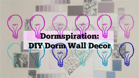 diy dorm room wall decor idea youtube