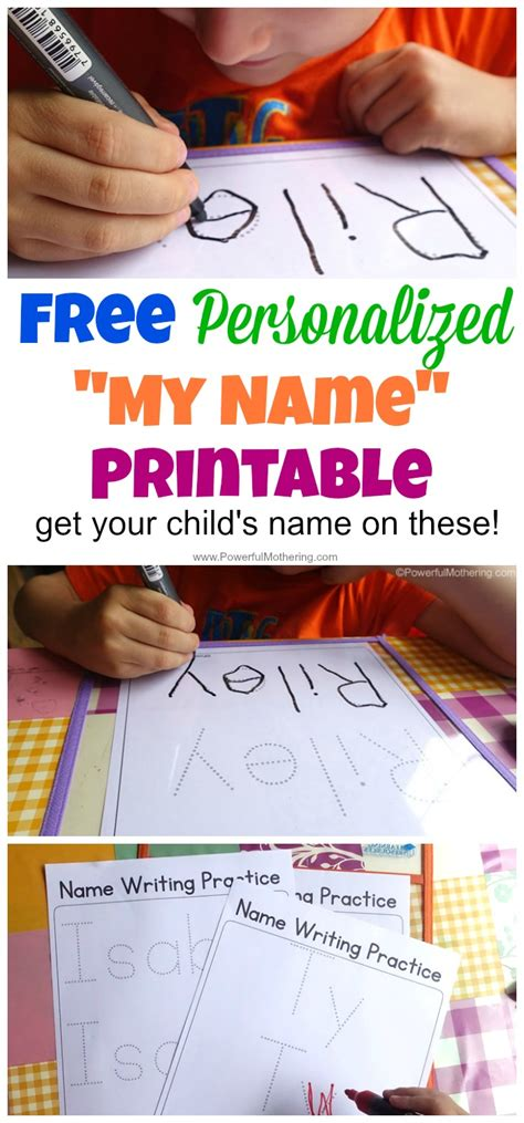 *free* Personalized Name Writing Printables  Life Of A