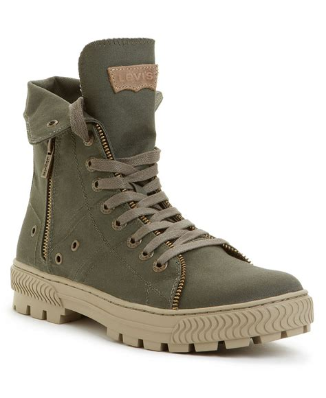 High Top Boat Shoes Mens by Levi S Shoes Canvas Hi Top Boots Mens All S