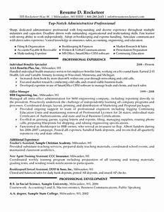 Education Administration Sample Resume 5 Administrative