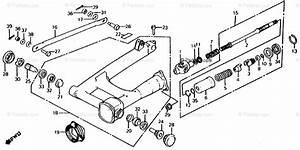 Honda Motorcycle 1986 Oem Parts Diagram For Swingarm