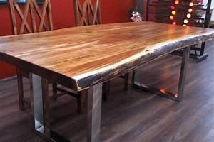 Tisch Holz Massiv : esstisch suar massiv holz tisch beine stahl poliert 213x108x77 ~ Indierocktalk.com Haus und Dekorationen