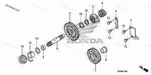 Honda Motorcycle 2009 Oem Parts Diagram For Kick Starter