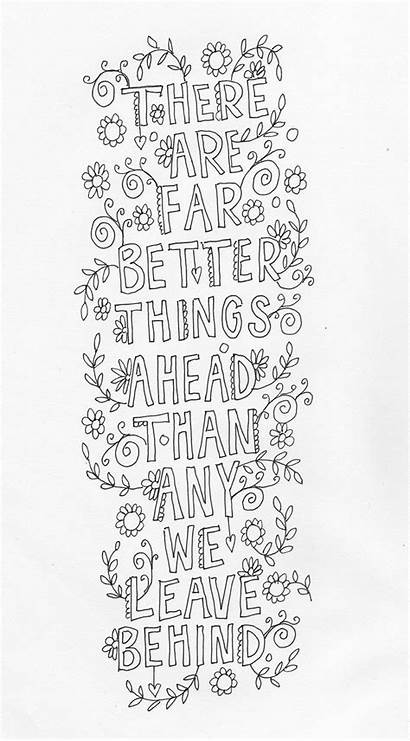 Coloring Pages Quotes Printable Inspirational Adult Quote