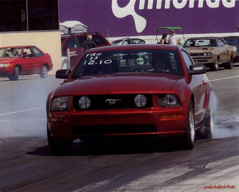 ford mustang gt whipple supercharger  mile drag