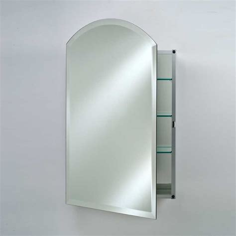 afina 16 quot arch top wall mount mirrored medicine cabinet