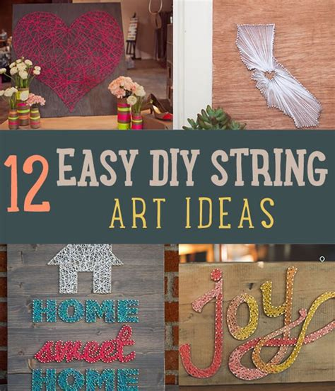Easy String Art For Homes Diy Projects Craft Ideas & How