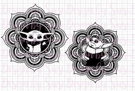 Polish your personal project or design with these seaweed transparent png images, make it even more. Baby Yoda Mandala SVG Yoda SVG and PNG Mandala Baby | Etsy