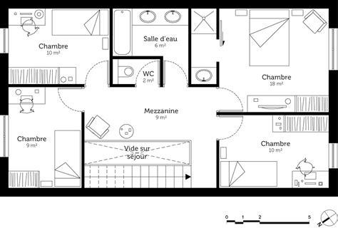 cuisine fonctionnelle plan maison à étage 130 m ooreka