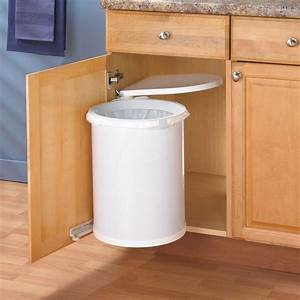 new kitchen cabinet trash can under sink waste basket lid With kitchen colors with white cabinets with waste management stickers