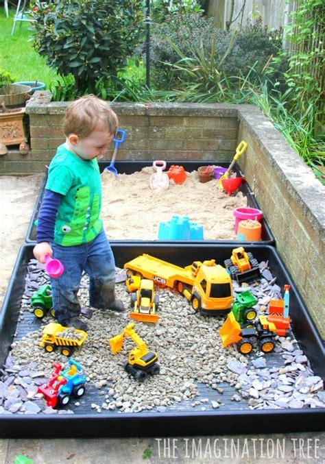 diy sand box  gravel pit  images outdoor kids