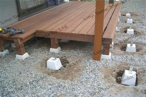 precast deck post footings concrete decking posts concrete deck footing blocks