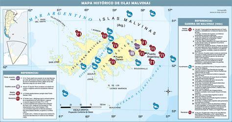 Mapa histórico de las Islas Malvinas Gifex