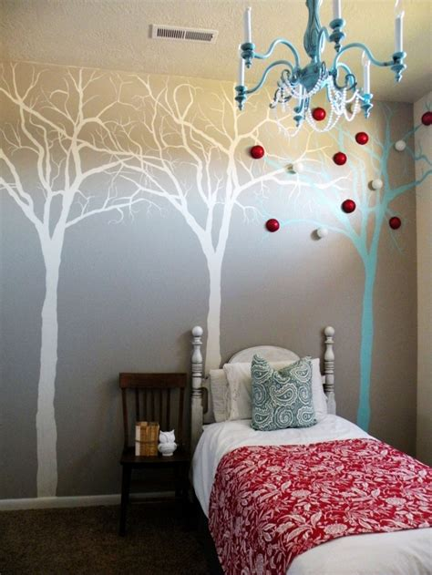 how to paint a mural on a bedroom wall diy wall murals modern magazin