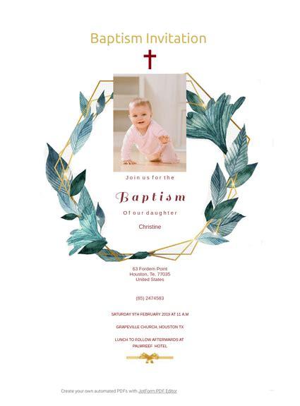 Baptism Invitation TemplateTemplates JotForm