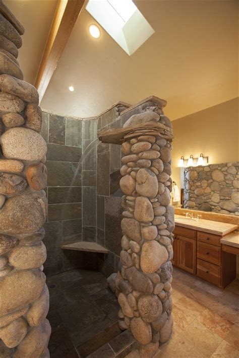 rock waterfall shower google search rustic master