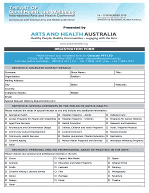 fillable online presented by registration form please
