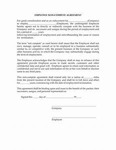 non compete agreement tempalte With confidentiality and non compete agreement template