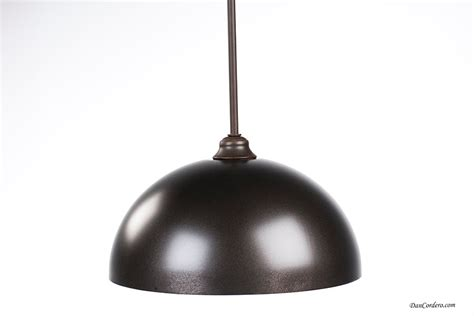 rubbed bronze copper dome edison bulb pendant light