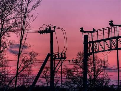 Aesthetic Winter Sky Street Pink Purple Moscow