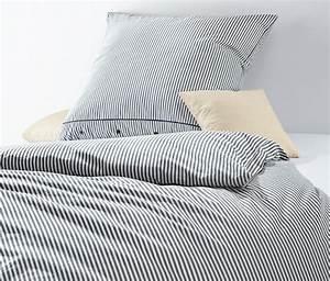 Bettwäsche Blau Weiß Gestreift : perkal bettw sche blau gestreift online bestellen bei tchibo 301364 ~ Watch28wear.com Haus und Dekorationen