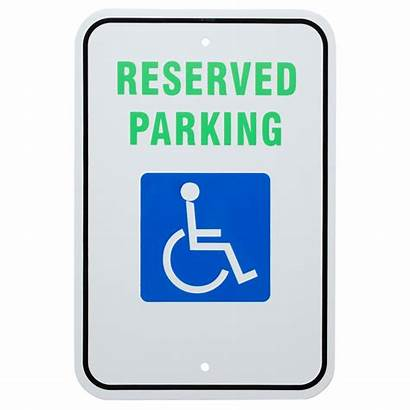 Handicap Reserved Parking Sign Aluminum Composite Uniko