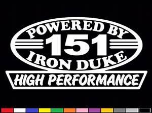 2 High Performance 151 Ci Decals Hp Inline 4 Iron Duke 2 5