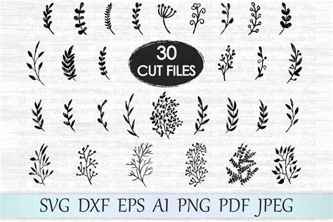 Leaf Svg File, Leaves Svg File, Branches Svg File, Wedding