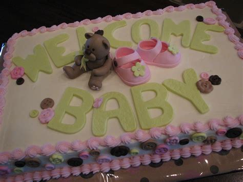 Baby Shower Sheet Cakes For by Decadent Designs Baby Shower Sheet Cake