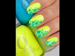 DIY- Summer Nails, Cute And Easy For Beginners, Yellow And ...