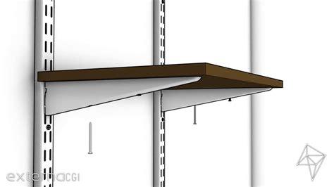 adjustable wall mounted shelf brackets