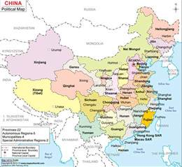 China Map with Cities and Provinces