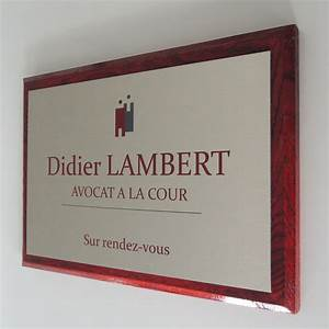 Plaque Alu Brossé : plaque professionnelle aluminium bross sur support bois ~ Edinachiropracticcenter.com Idées de Décoration