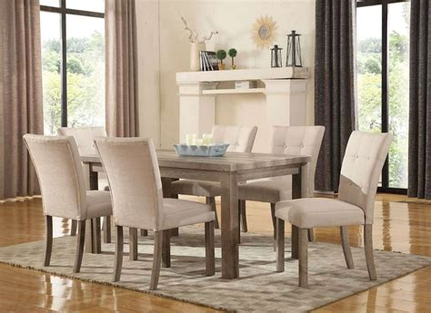 sanders reclaimed grey  pc  dining set  weathered