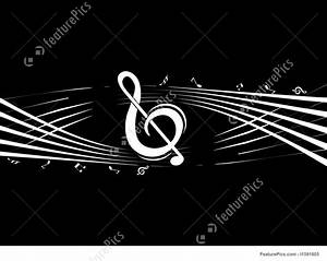 Musical Instruments: Vector Music Note On Black Background ...