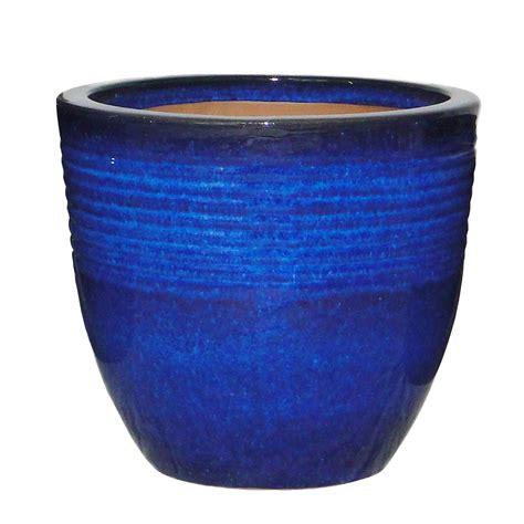 kitchen cabinets furniture seacourt glazed blue pot h 245mm dia 270mm