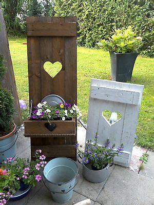 Shabbyfensterladenherzblumenkastengartendekoholz
