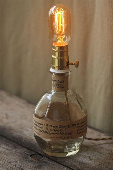 blantons bourbon whiskey bottle lamp  graffitiglass  etsy projects   blantons
