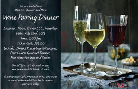 wine dinner pairings july 17th 2013 bermuda events