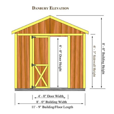 Storage Shed Plans 8x12 by Danbury 8x12 Wood Storage Shed Kit Danbury 812